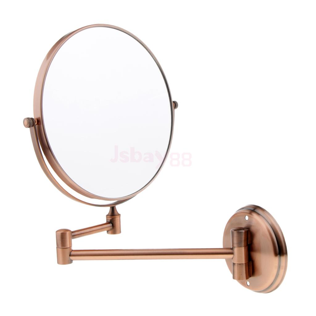 Double Sided Vintage Chrome Extending Wall Mount Mirror 3x Magnification 360 Swivel Makeup Mirror Bathroom Shaving Mirror все цены