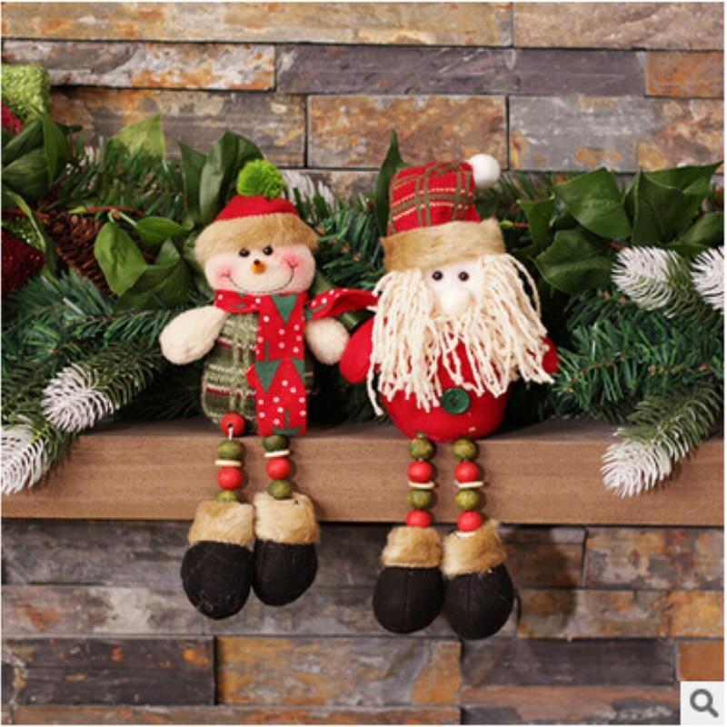 adornos navidad 2018 fashion sitting santa claus snow man christmas dolls best christmas gifts christmas decoration for home