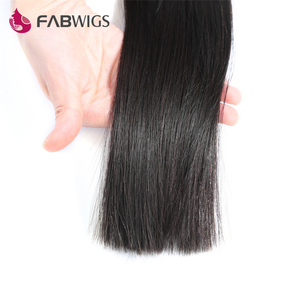 Fabwigs Hair Brazilian Straight Hair Weave Bundles Natural Color 3 Bundles Human Remy Hair Weave Extension Freeshipping-in 3/4 Bundles from Hair Extensions & Wigs    3