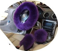 Winter Warm Wool Handbrake Cover Gear Shift Cover Steering Wheel Cover 38cm 14 96 X 14