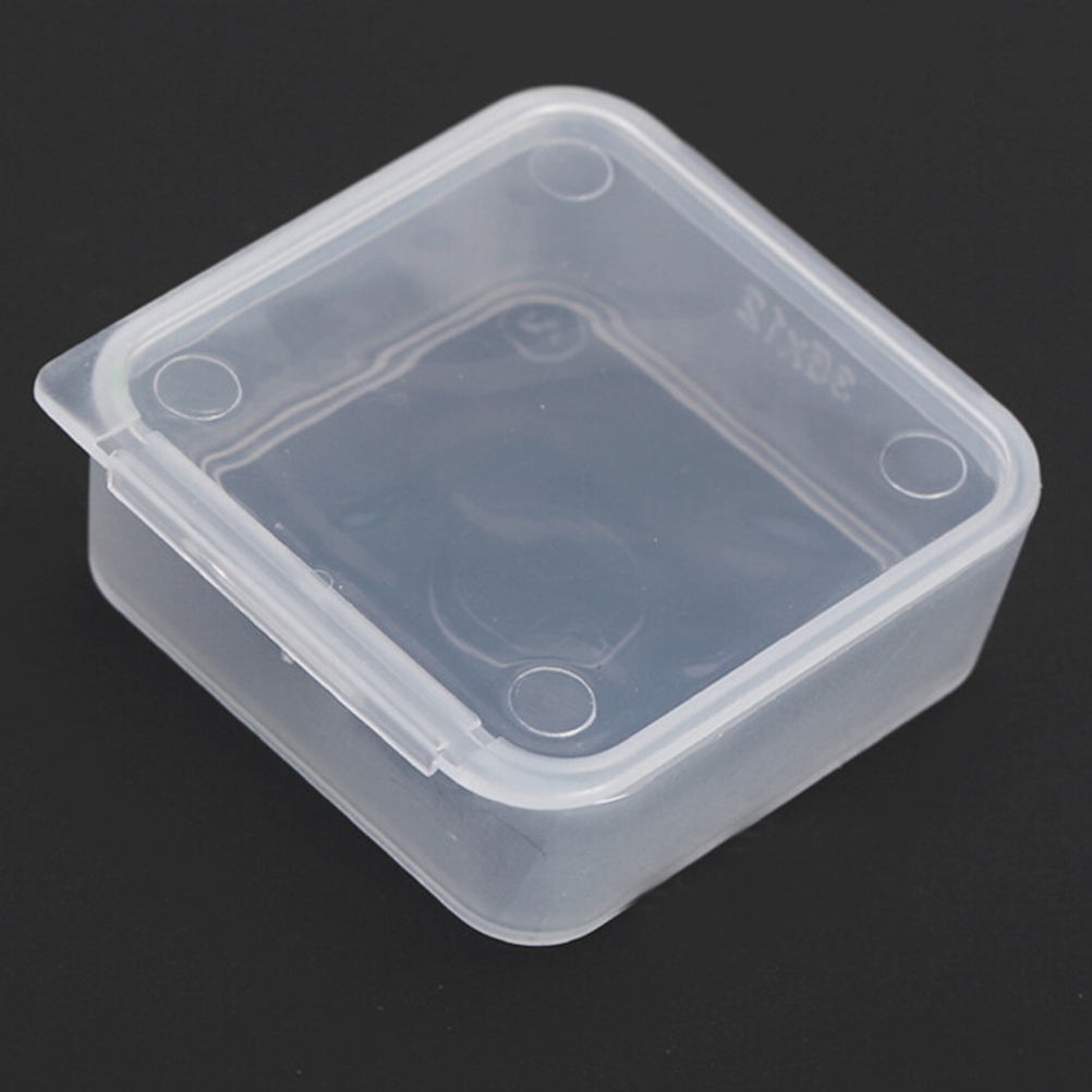 5pcs Lot Small Square Plastic Clear Transpa Collection Container Case Storage Box Coin Capsules Holders Collecting Whole