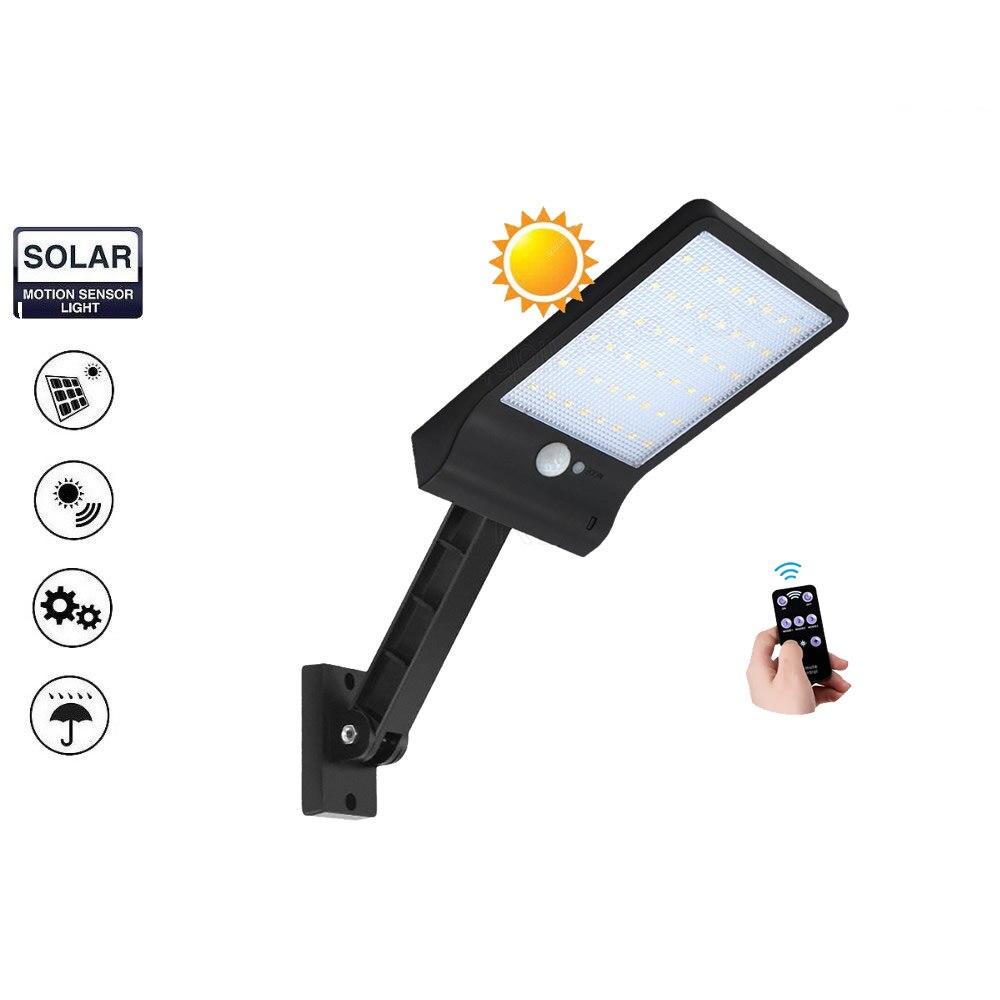 2 pcs desk lamp remote control rotate bracket solar street light 48 LED Solar Light 3