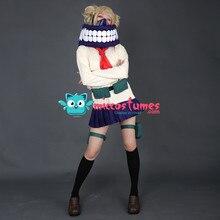 Himiko 利賀コスプレ私のヒーロー学界 jk 制服カーディガンコスプレ衣装