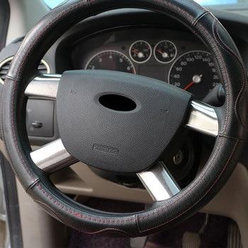 Autocollant de décoration de volant de voiture en acier inoxydable Carmilla pour Ford Focus 2 MK2 2006 2007 2008 2009 2010 2011