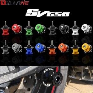 Image 5 - 8mm kırmızı salınım kolu kaydırıcılar makaralar Suzuki GSXR 600 750 1000 1300 için Sv650 b king TL1000 DL650 DL1000 GSX 650F 750F ücretsiz kargo