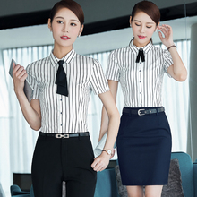 Summer Dress Dress Shirt Occupation Hotel Clerk China Mobile Mobile Phone Shop Work Uniforms J313