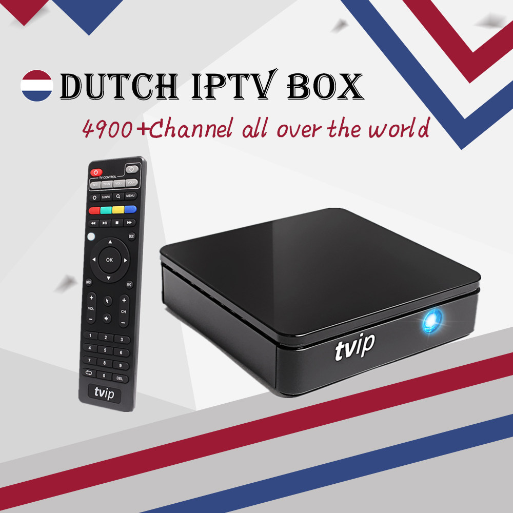 Dutch IPTV Box TVIP 412 Android &Linux OS tv box+1 year 4900+Live&VOD Arabic Dutch Spain France Portugal smart set top tv box 5pcs android tv box tvip 410 412 box amlogic quad core 4gb android linux dual os smart tv box support h 265 airplay dlna 250 254