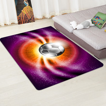 Flannel football pattern floor mat carpet living room coffee table bedroom Bedside Rug And carpet child room Crawling mat/Rugs simple style round carpet kids rug for bedroom bedside rug tapeta baby crawling mat hallway floor mat nice carpet kids room
