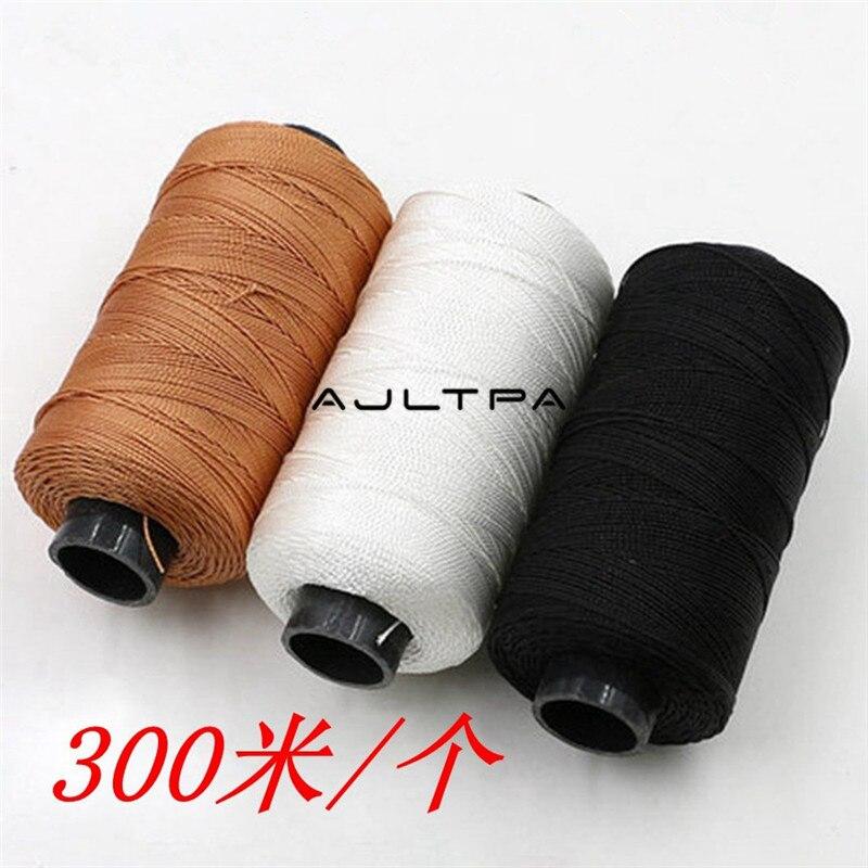 200 pièces 300 M fils à coudre durables fil à coudre en cuir de Nylon borné pour chaussures de réparation artisanale