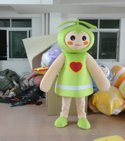 Green Seed Bud Sprout Burgeon Fenfen Plant Mascot Costume With Thin Arms Legs Small Hands Big Feet Head for Halloween party