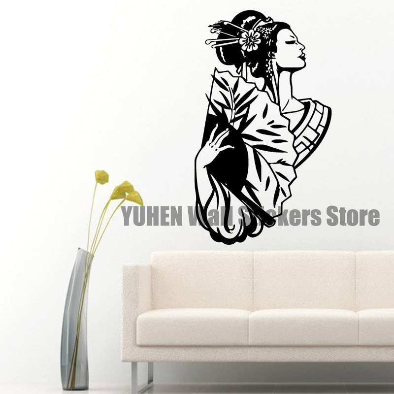 Popular Asian Wall DecalBuy Cheap Asian Wall Decal Lots From - Vinyl wall decals asian