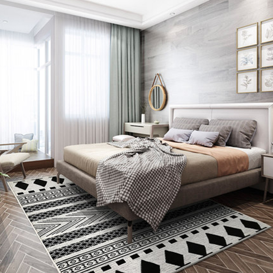 Nordic design geometric 3d livingroom carpets modern wilton bedroom ...