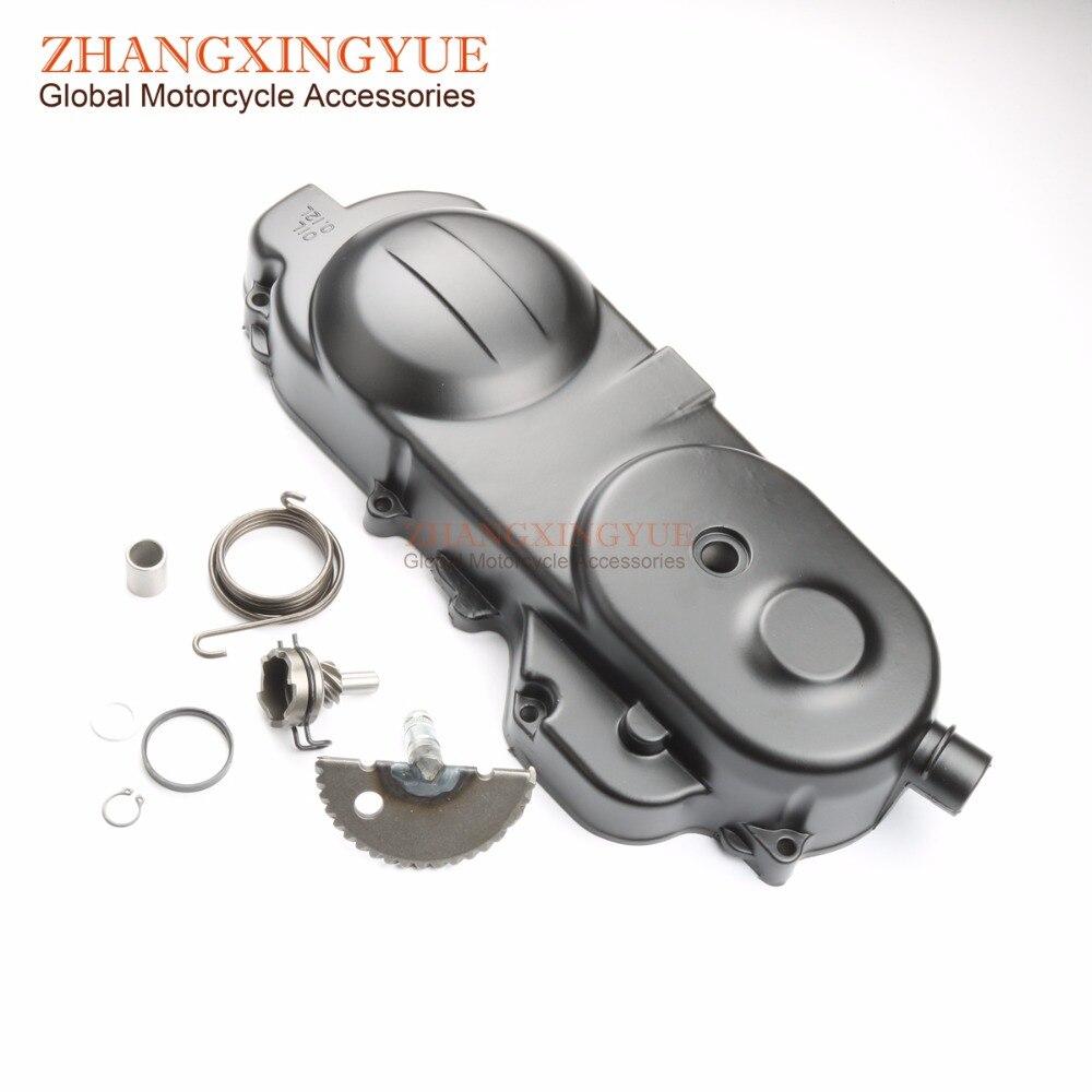 49cc 50cc 10 pouces carter moteur couvercle Long boîtier moteur gauche GY6 Scooter QMB139 cyclomoteur 400mm + dent de démarrage + ressort