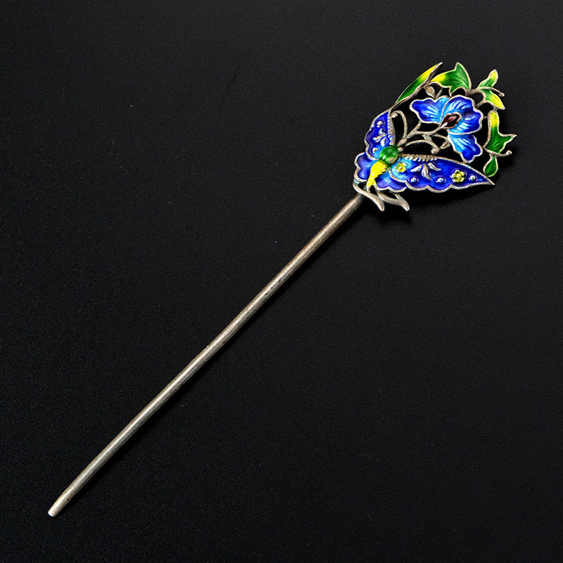 Hair-Accessories Sewing-Thread Colored Silver Craft The Enamel Cloisonne Bluing Ofing