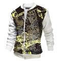 New White Bomber Jacket Men 2017 Spring Fashion Mens 3D Printed Zipper Baseball Jacket Streetwear Blouson Veste Homme
