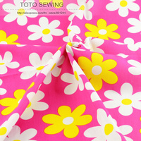 1 Meter X 145 Cm Wide Pink Flower Printed Cotton Fabric Fashion Kids Clothing Fabric For