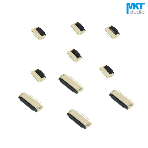 100 pièces clapet Type 28 broches 28 P 0.5mm pas 2.0mm hauteur FPC FFC connecteur