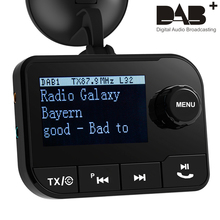 DAB 006 Multifunction Wireless Car Kit LCD Display Car Charger Bluetooth Handsfree Call Mp3 player DAB Receiver FM Transmitter