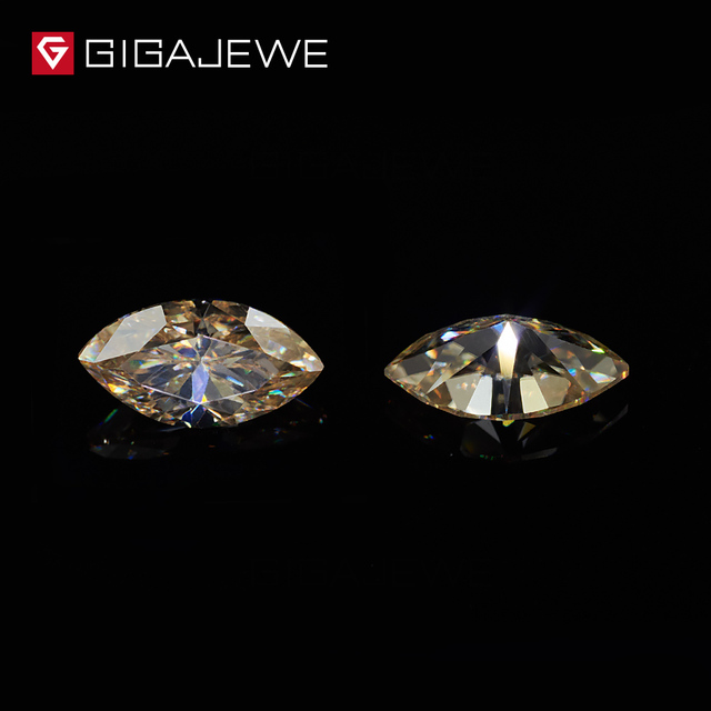 GIGAJEWE Moissanite Marquise Cut Yellow Color Beads DIY Gem Stone Hardness Stone For Classic Fashion Jewelry
