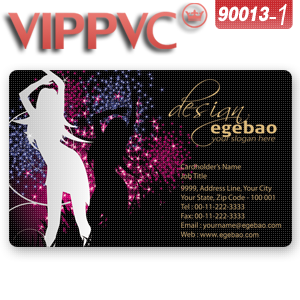 A90013 Blank Business Cards Template For    PVC Card With Single Faced Printing