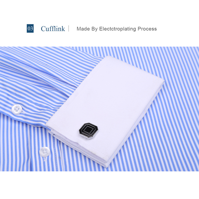 9XL 7XL 6XL Striped Men French Cufflinks Casual Dress Shirt Long Sleeved White Collar Design Style Mens French Cuff Dress Shirts 2
