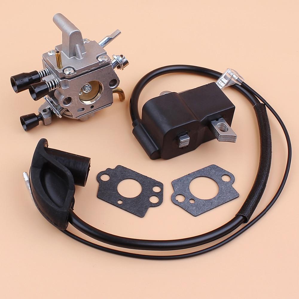 цена на Carburetor Ignition Coil Module Kit Fit STIHL FS300 FS350 FS120 FS200 FS250 FS250 R FS020 FS202 TS200 Trimmer Weedeater Cutters