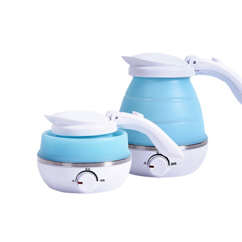 0.5L Portable Electric Kettle 680W Silicone Foldable Travel Camping Vacations Water Boiler Adjustable Home Appliances