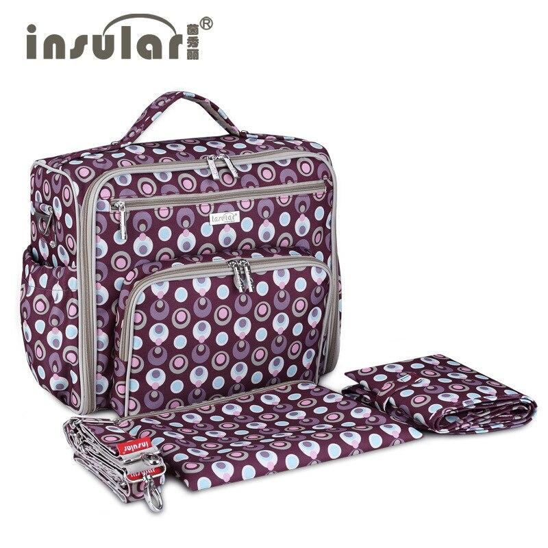 Multifunctional Large-Capacity Mother Bag Printed Nylon Outdoor Backpack Wet Storage Baby Bag Diaper Bag flamehorse k81 folding nylon storage bag