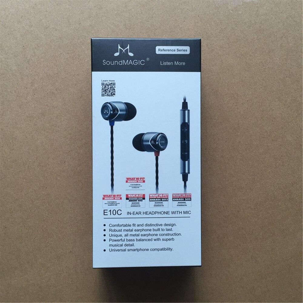 SoundMAGIC E10C Avec Micro et Volume Changement Fonction Bruit Isoler In-Ear Hifi Stéréo Écouteurs