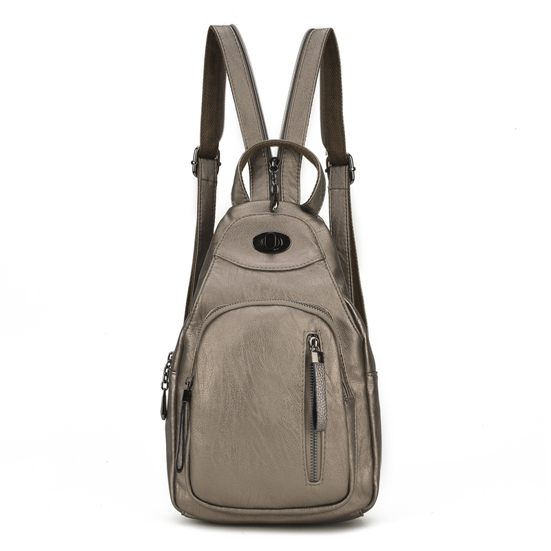 Women Backpacks Leather School Bags For Teenagers Girls Daily Backpacks Multifunction Chest Bag Travel Bagpack Mochila Femininas wainer часы wainer wa 12440h коллекция wall street