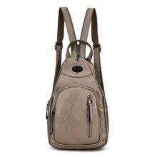 Женские рюкзаки кожаные школьные сумки для подростков девочек ежедневно рюкзаки многофункциональный Грудь сумка рюкзак Mochila Femininas