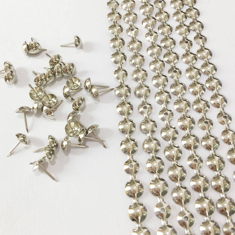 Free DHL shipping 20meters 11mm Nickel Plated Nail Strips And 20meters 11mm Bronze Plated Nail Strips