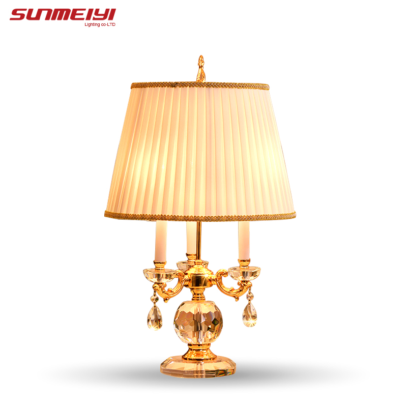 Bedroom Table Lamp White Fabric Lampshade Living Room Decoration Abajur Table lamp For Bedroom Lamparas De Mesa