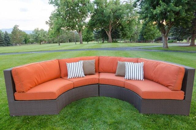 Divano Componibile Curvo : 2017 divano da giardino in rattan mobili in vimini allaperto divano