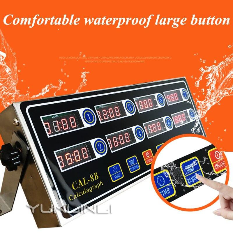 99 minutes LCD minuterie de cuisine numérique minuterie à huit canaux compte à rebours réveil fort cuisine four cuisson minuterie CAL-8B