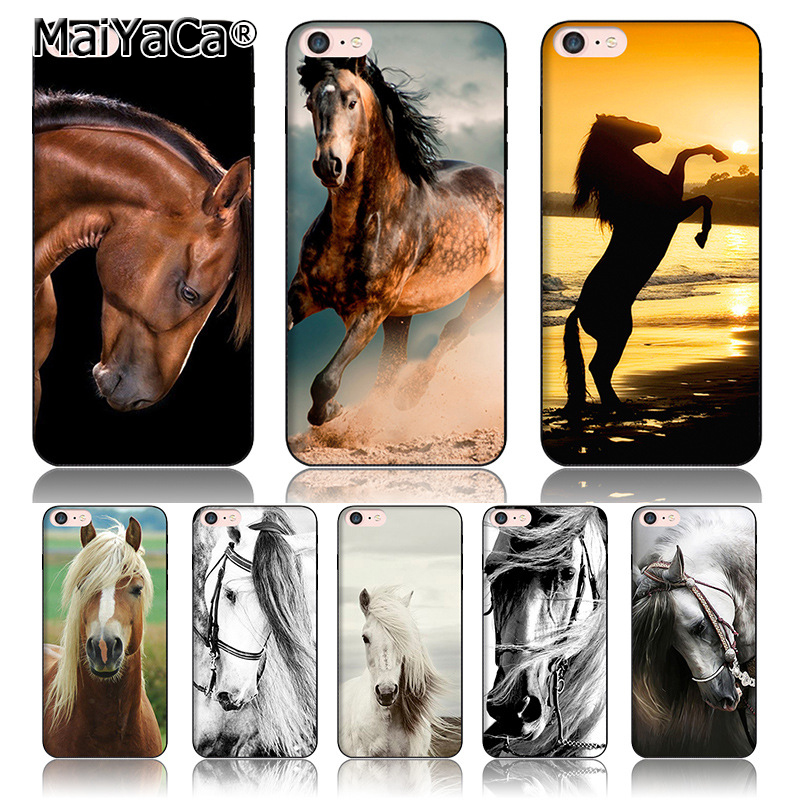 MaiYaCa Fun Dynamic silicone phone case for iphone 6s case New horse has character of the horse For iPhone 6 6s Case