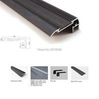 22 X 2M Sets Lot Stair Step Aluminium Led Profile And Black Finished Flat Led Profile