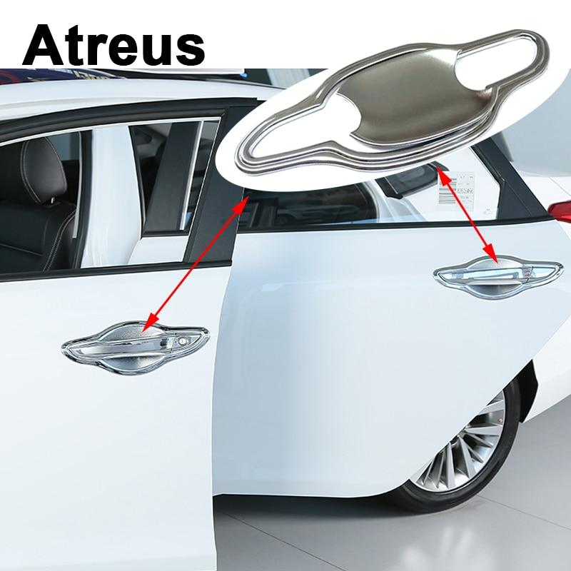 Atreus 8pcs Car Accessories For Hyundai Tucson 2017 2016 2015 External Door Handle Bowl Panel Frame Trim Covers Stickers