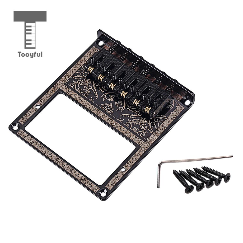 Tooyful Roller Saddle Bridge w/Screw Wrench Humbucker Mount Parts for Telecaster Electric Guitar