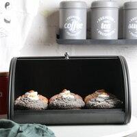 Iron Bread Box Home Pastry Durable Retro Storage Practical Non Slip Base Decorative Rustproof Kitchen Cake Roll Top