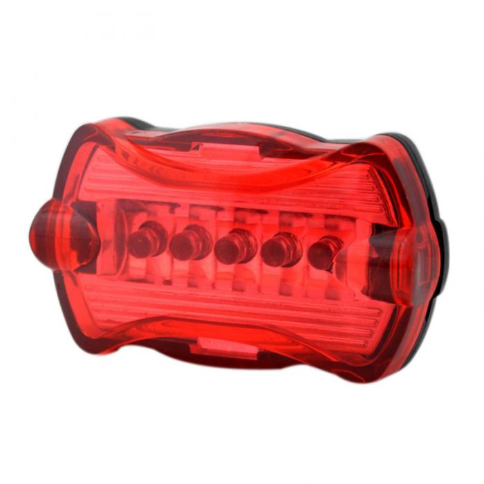 Cycling Bicycle Super Bright Red 5 LED Rear Tail Light Bike Lamp 3 modes