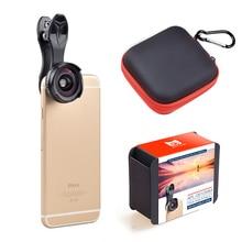 Apexel pro оптический объектив камеры kit 4 К hd 0.6x широкоугольный + 10x макро 2 в 1 объектив для iphone xiaomi samsung смартфон нет темный круг