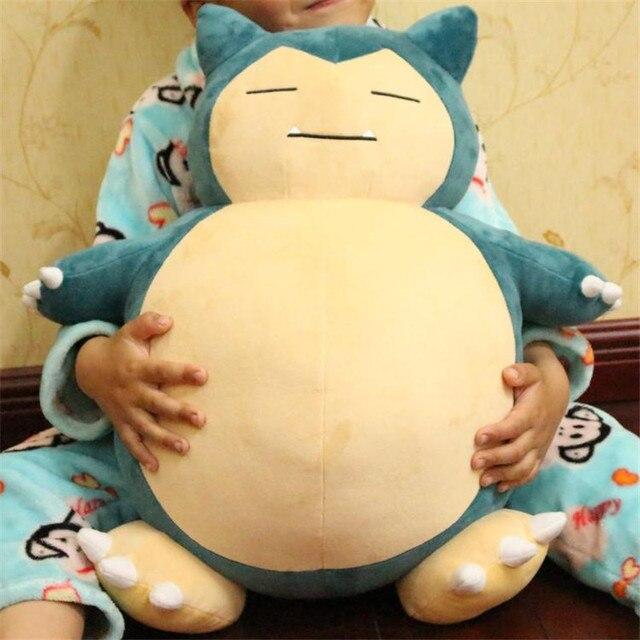 Рождественский подарок 1 шт. 55 см Pocket Monster Игрушки Snorlax Плюшевые Аниме Новый Редкие Мягкие Чучела Животных Куклы Для Детей подарок