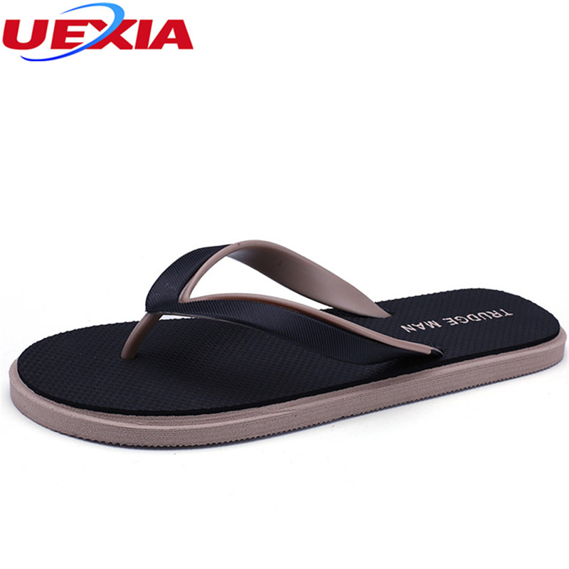 UEXIA Mens Flip Flops Casual Men Shoes Summer Fashion Beach Flip Flop Slippers Lightweight Sapatos Hembre Sapatenis Masculino hot sale natural man hemp flip flops summer breathable fashion beach sandal shoes men s casual canvas slides shoes free shipping