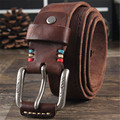 Cowhide Genuine Leather Belts men brand Strap male pin buckle fancy vintage  jeans strap male cintos masculinos ceinture homme 4