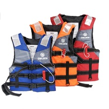 Polyester Adult Kids Life Vest Jacket Swimming Boating Outdoor Professional life jacket Water Sport Swimwear Drifting