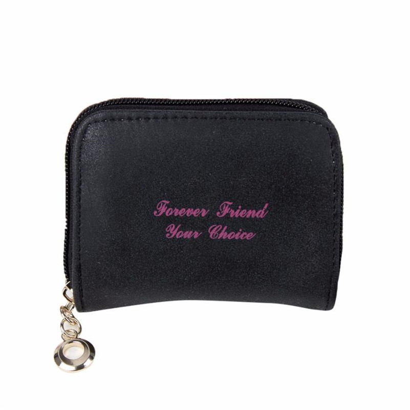 Women Scrub Zipper Coin Purse Short Wallet Card Holders Handbag Fashion bag Clutch handbag wallet carteira feminine купить