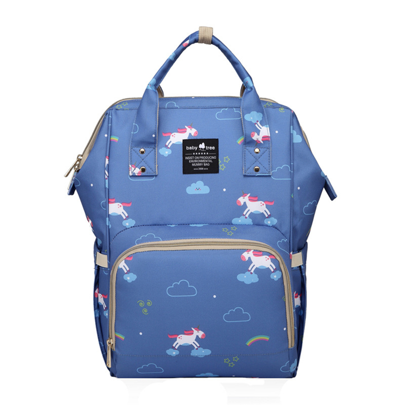 2018 New Fashion Mummy Bag Shoulder Large Capacity Mother Bag Multi-function Maternal And Child Light Out Backpack Diaper Bag multi function large capacity shoulder mummy bag fashion out of the baby bag maternal and child shoulder bag one generation