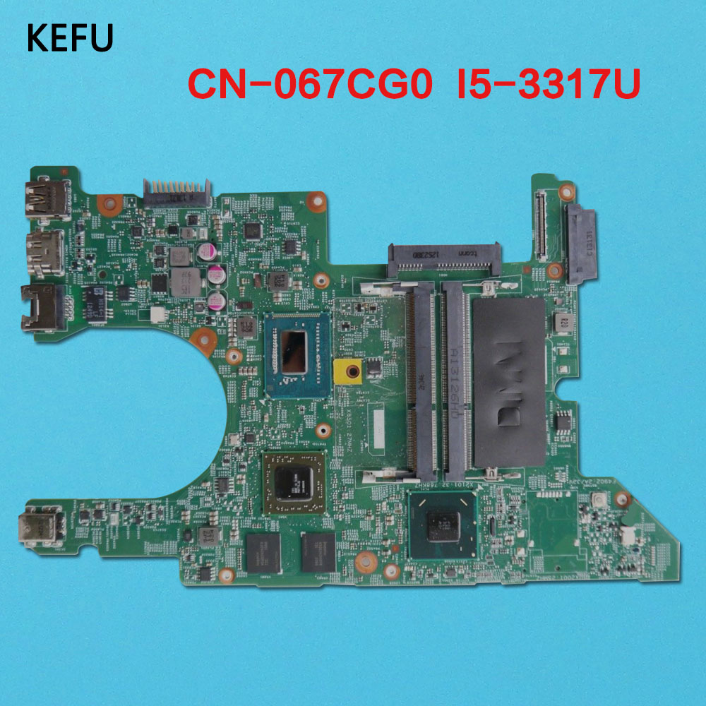 KEFU 067CG0 For Dell Inspiron 14Z 5423 14Z 5423 Laptop Motherboard with I5 3317U CPU DMB40