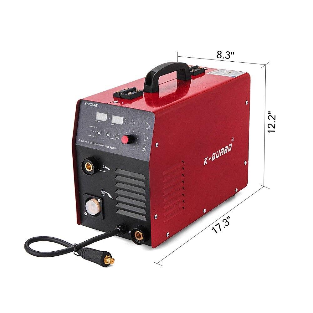 Spawarka MIG MMA MAG 3 w 1 280 Amp gazu bezgazowa drut przenośne spawanie